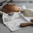 Abreadbag Vrecúška z ručne tkáneho prírodného ľanu na pečivo