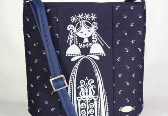 Remix kabelky, tašky, kozmetické taštičky zo šikovných rúk kreatívnej duše, modrotlač